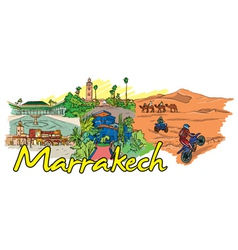 Marrakech doodles vector