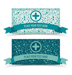 medicine banners set vector image