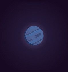 neptune planet isolated in vector image