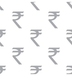 New Rupee seamless pattern vector image