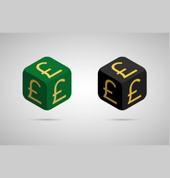 pound green and black pound cube vector image
