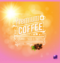 Premium coffee background with beans image vector