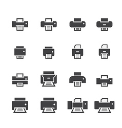 printer icon set vector image