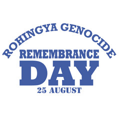 Rohingya genocide remembrance day vector