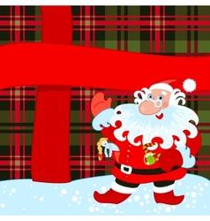 santa and big present vector image