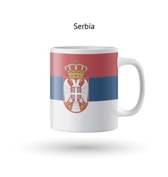 Serbia flag souvenir mug on white background vector