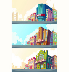 set cartoon an urban vector image