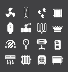 Set icons of heating vector image