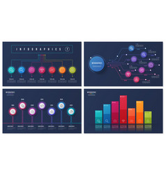 Set of 7 options infographic designs vector