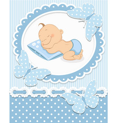 Sleeping baboy vector
