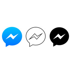 social media icon set for messenger in different vector image