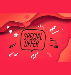 special offer banner design template vector image