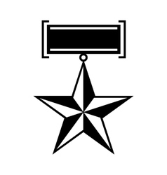 Star second world war medal icon simple style vector image