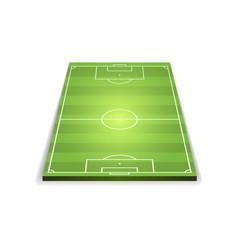 Three dimensional model of football field vector