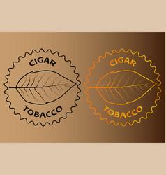 Tobacco cigar sticker vector