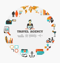 Travel agency emblem vector