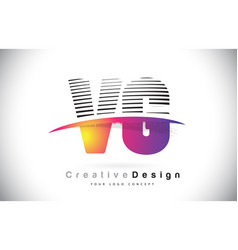 Vg v g letter logo design with creative lines and vector