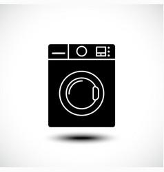 Washing machine line icon home appliances symbol vector