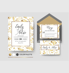 Wedding invite invitation rsvp poscard stylish vector
