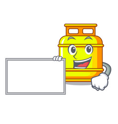 With board flammable gas tank on cartoon the vector