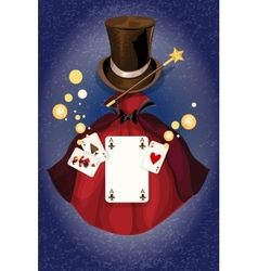 Magician colored background vector image