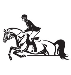 equestrian horse show jumping logo vector image vector image