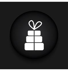 modern gift black circle icon vector image