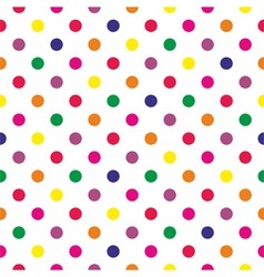 Tile pattern with polka dots on white background vector image