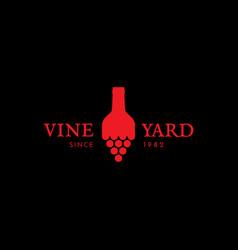 vineyard logo vector image vector image