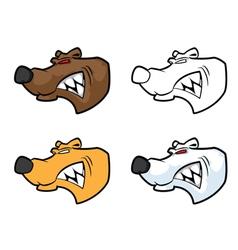 bear mascot head vector image vector image