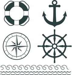Nautical decoration vector image vector image