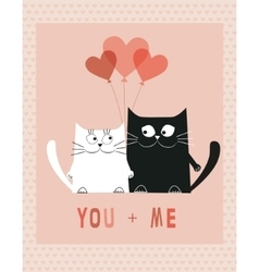 Two Cats in love vector image vector image