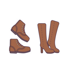 winter or autumn shoes isolated vector image vector image