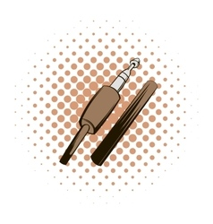 Audio jack connector comics icon vector image