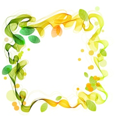 background with leaves green and yellow vector image vector image