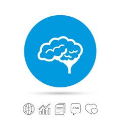 brain sign icon intelligent smart mind vector image vector image