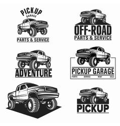 car truck 4x4 pickup off-road logo vector image