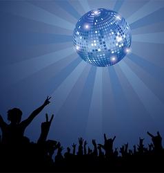 Night Club Crowd vector image