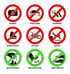 Park signs - set II vector image