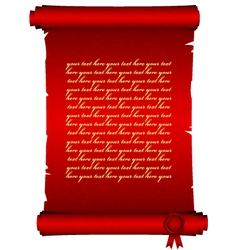red scroll vector image