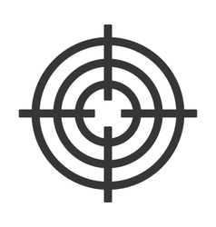 Shooting Target Icon Isolated on White Background vector image vector image