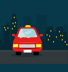 Vehicles and city design vector