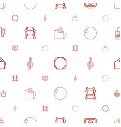 3d icons pattern seamless white background vector