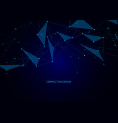 abstract connection background with lines and dots vector image