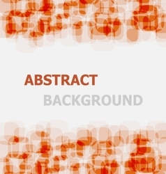 Abstract orange rounded rectangle overlapping vector image