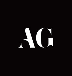 Ag logo letter initial logo designs template vector