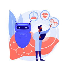 ai use in healthcare abstract concept vector image