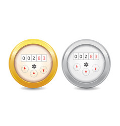 Analog water meter icon sanitary equipment vector