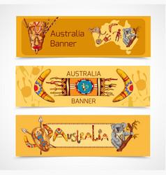Australia sketch banners horizontal vector image vector image