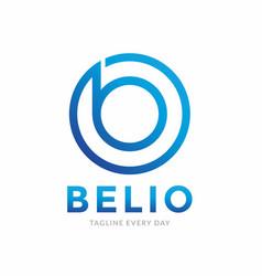 B circle abstract logo design vector